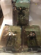 """3-Sealed Action Figures of*The Matrix*, """"The Film�-,Trinity,Mr.Ander son,& Tank."""