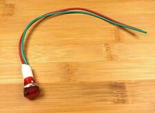 BBT Waterproof 12 volt Low Profile Red LED Indicator Light