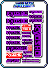 KYOSHO MODEL RC CAR DRONE BOAT BUGGY MINI Z STICKERS DECALS ROBOT R/C PURPLE B