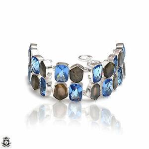 Labradorite Blue Topaz Bracelet B4101