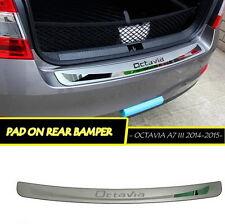 Skoda Octavia III A7 2014-15 Stainless steel trunk guard rear bumper foot plate