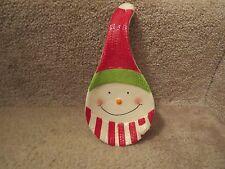 Ceramic Snowman Spoon Rest