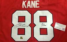 RARE Chicago Blackhawks PATRICK KANE 13 CONN SMYTHE Signed Auto Jersey COA Proof