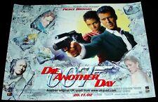 JAMES BOND POSTER DIE ANOTHER DAY CINEMA ISSUED ORIGINAL 2002 UK MINI QUAD MINT