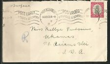 SWA South West Africa - Cover 1938 from Port Elizabeth to Ukamas P.O.Ariamsvlei