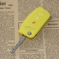 Schlüsseltasche Schlüsseletui Silikon Key Cover GELB für FORD FOCUS 2