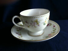 Wedgwood Mirabelle tea cup & saucer (some rim gilt wear)