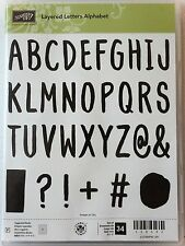 Stampin Up LAYERED LETTERS ALPHABET photopolymer stamps NEW ABC's