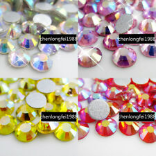 non hotfix AB rhinestones crystal flatback 3d nail art stones tips decoration