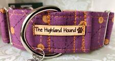 "2"" Underground Handmade Martingale Dog Collar Greyhound,Whippet, Lurcher, Saluki"