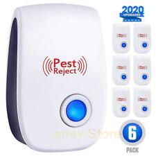 6 Pcs Electronic Pest Repeller Ultrasonic Sonic Transonic Bats Rat Mouse Control