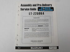OEM Suzuki Assembly PDI Pre-Delivery Inspection Setup Service Guide LT-Z250 LTZ