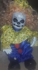Musical Scary Creepy Clown horror painted ooak China porcelian dead doll