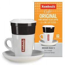 180 Rombouts Original Roast Ground Coffee / Filters - Medium Slow Roasted Blend