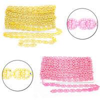 Rhinestone Plastic Trim Lace Chain for Scrap Booking Wedding Dress Craft Decor
