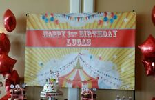 Personalized Big Top Circus Carnival Banner Dessert Favor Table Party Backdrop