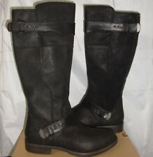 UGG Australia DAYLE Black Tall Leather Boots Size US 8,EU 39 NEW  #1007671