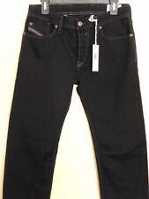 DIESEL Mens Black Denim Waykee 0Z886 Regular Straight Jeans Size W28 L30