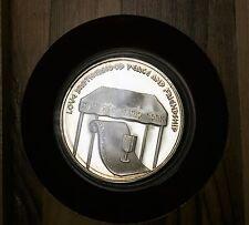 1978 Israel Silver .935 Proof Wedding Medal Olive Wood Box No COA 0.8 Ozt