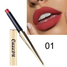 Gold matte pencil waterproof lip gloss durable light color sexy red lipstick #01