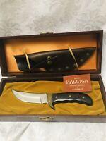 Kalinga Vintage 1970s Buck Knife Fixed Blade Skinner Hunting Knife Sheath Case