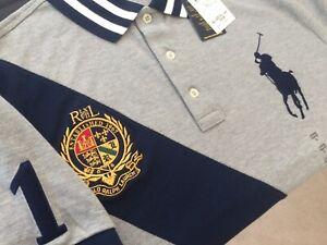 Ralph Lauren Polo Shirt BNWT size L Custom Slim Fit Mens Big Pony #1 Genuine