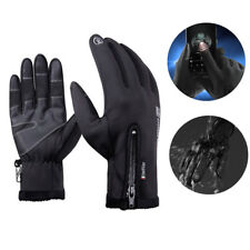 Winter Thermal Touch Screen Gloves Outdoor Sport Ski Waterproof Protection Black