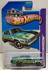 Hot Wheels 2013 Super Treasure Hunt Blue w/Flames '71 Dodge Demon w/Real Riders