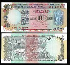 Rs 100/- 1990s India Banknote C. RANGARAJAN PLAIN GEM UNC RARE