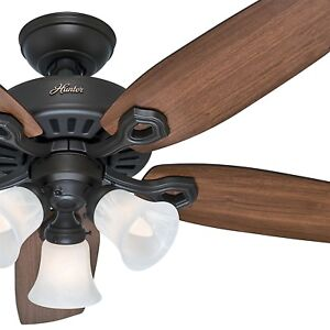Hunter Fan 42 in Casual New Bronze Indoor Ceiling fan with Light and Pull Chain