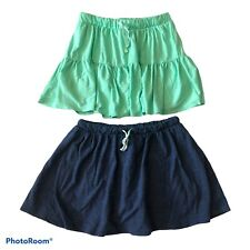 Girls lot of skorts Sz 14/16 Navy Blue Mint Green