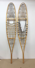"Antique Style Hurons Indian Made Snowshoes Trapper 10"" X 56"" Decor Arts & Craft"