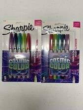 Sharpie Permanent Markers Fine Point Cosmic Color Limited Edition 5 Count
