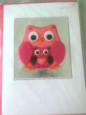 Papyrus Mother's Day Card: Mama & Baby Felt Owls Thanks for watching out for me
