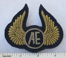 ORIGINAL 1970s Vintage AE AIR EUROPE AIRLINES UK CAP BADGE HAT INSIGNIA DEFUNCT