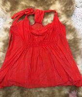 Intimissimi red white dots    Camisole unpadded  Top sleepwear nightwear size L