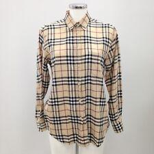 BURBERRY Brown Blend Checked Formal Shirt Women's Smart Size UK 14 371287