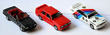 BMW 3er Set 1982-1994 BMW E30 325i Cabrio black metal M3 red, M3 Gr.A 1:87 Herpa