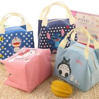 Thermal Lunch Bag Insulated Picnic Cartoon Tote Box Portable Food Storage Pouch
