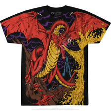 DRAGON-FIRE-2 SIDED Large Print TSHIRT S,M,L,XL,XXL-3X,4X,5X,6X Game of Thrones