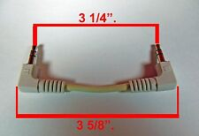 """Lot 20 Short 3 1/4"""" Length 3.5mm Male to M Plug Stereo Audio Aux Sound Cables."""