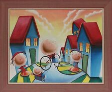 Signed Stephen Ladkin Framed Oil on Board Painting, 2013 Ready To Hang