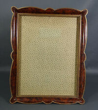 "15"" Deco Desk Wall Photo Portrait Picture Frame Display Gilt & Crocodile Leather"