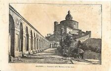 Stampa antica BOLOGNA Santuario della Madonna di San Luca 1892 Old antique print