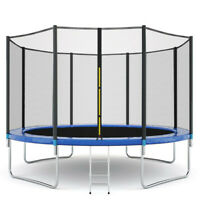 10FT Kids Trampoline With Enclosure Net Jumping Mat And Spring Cover Padding TE