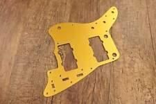 Brushed Gold Aluminum Metal SSS Pickguard Scratch Plate for Jazzmaster Guitar