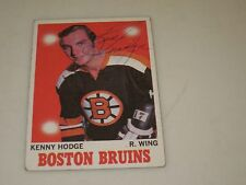 KEN HODGE AUTOGRAPHED 1970 TOPPS HOCKEY CARD-BRUINS