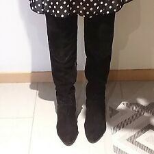 Knee high leather suede boots sz.EU 41/10 USA, Peter Kaizer