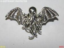 Steampunk broche insignia con Pin Plata Octopus Cthulu HP Lovecraft Alexander Liptak