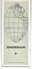 1970 SWISSAIR TRAVEL MAP BROCHURE PRINTED IN SWITZERLAND EXCELLENT CONDITION